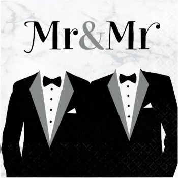 Picture of MR & MR WEDDING LUNCHEON NAPKINS