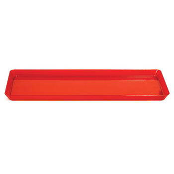 """Image de TABLEWARE - 16"""" X 15.5"""" CLEAR RED TRAYS"""