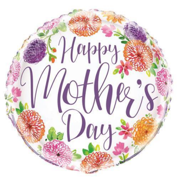 "Image de MOTHER'S DAY PURPLE FLORAL - 18"" FOIL"