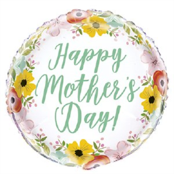 "Image de MOTHER'S DAY FLORAL - 18"" FOIL"