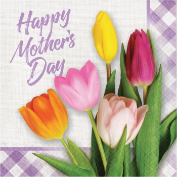 Image de MOTHERS DAY SPRING TULIP LUNCHEON NAPKINS