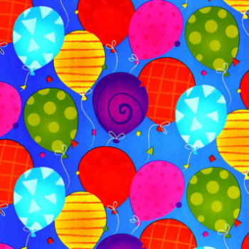 Picture of JUMBO GIFT WRAP - BRIGHT BALLOONS