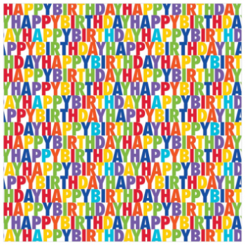 Picture of JUMBO GIFT WRAP - BIRTHDAY LETTERS