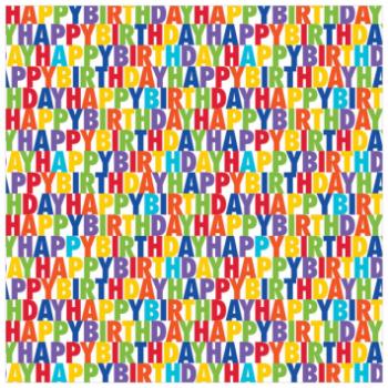 Image de JUMBO GIFT WRAP - BIRTHDAY LETTERS