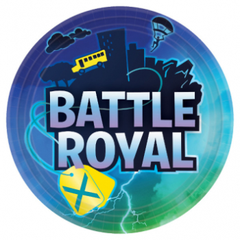 """Picture of BATTLE ROYAL ''INSPIRED BY FORTNITE'' - 9"""" PLATES"""