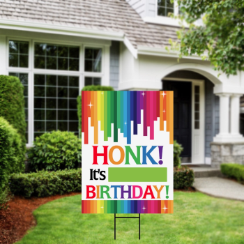 Picture of LAWN YARD SIGN - ANY BIRTHDAY - HONK IT'S MY BIRTHDAY