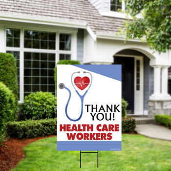 Picture of LAWN YARD SIGN - THANK YOU HEALTH CARE WORKERS