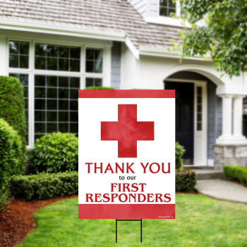 Picture of LAWN YARD SIGN - THANK YOU FIRST RESPONDERS