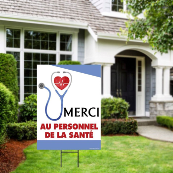 Picture of LAWN YARD SIGN - MERCI AU PERSONNEL DE LA SANTÉ