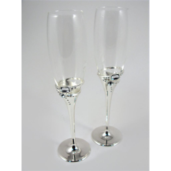 Picture of CHAMPAGNE GLASSES - CRYSTAL RINGS