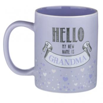 Image de HELLO MY NEW NAME IS GRANDMA MUG