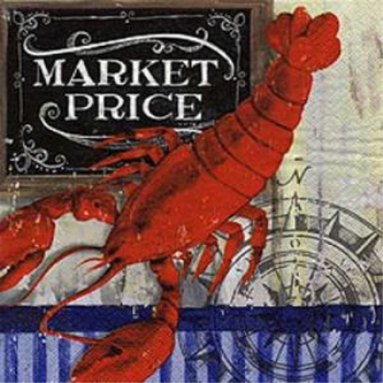 Picture of MARKET PRICE LOBSTER LUNCHEON NAPKINS