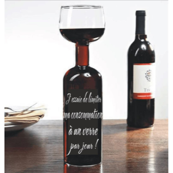 Picture of WINE BOTTLE GLASS 750ML - FRENCH