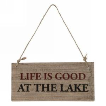 Picture of HANGING WALL PLAQUE...LIFE IS GOOD...