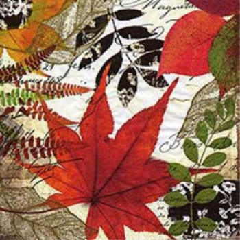 Image de FOLIAGE RED MAPLE LEAF - LUNCHEON NAPKINS