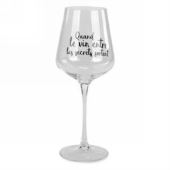 Picture of WINE GLASS - QUAND LE VIN ENTRE LES SECRETS SORTENT