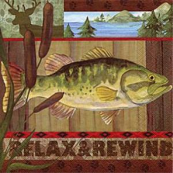 Picture of RELAX & REWIND FISH - LUNCHEON NAPKINS