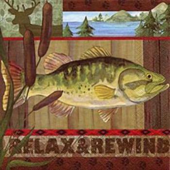 Image de RELAX & REWIND FISH - LUNCHEON NAPKINS