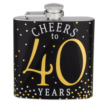 Picture of 40th CHEERS TO 40 FLASK