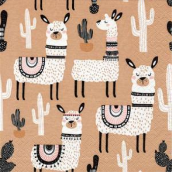 Picture of LLAMA MOTIF - LUNCHEON NAPKINS