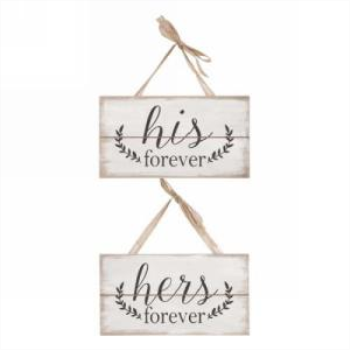 Picture of HIS FOREVER HERS FOREVER HANGING PLAQUE