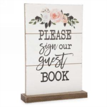 Picture of DECOR PLAQUE - PLEASE SIGN OUR  GUEST BOOK