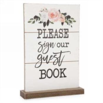 Image de DECOR PLAQUE - PLEASE SIGN OUR  GUEST BOOK