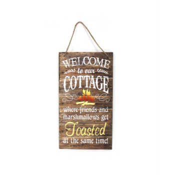 Picture of WELCOME TO OUR COTTAGE SIGNS - FRIENDS AND MARSMELLOW GET TOASTED
