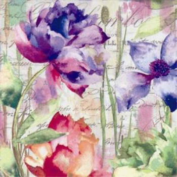 Picture of PINK AND PURPLE FLORAL - LUNCHEON NAPKINS
