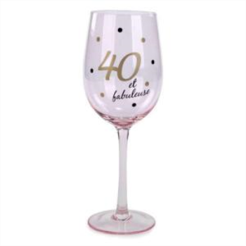 Picture of 40TH ET FABULEUSE WINE GLASS