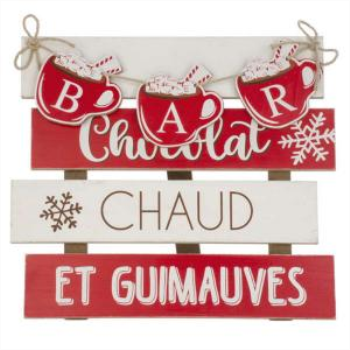 Image de DECOR - BAR CHOCOLAT CHAUD WALL DECORATION