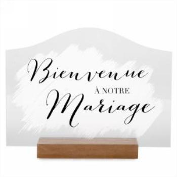 Picture of BIENVENUE A NOTRE MARIAGE TABLE DECO