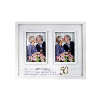 Picture of 50TH ANNIVERSARY DOUBLE FRAME