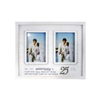 Picture of 25TH ANNIVERSARY DOUBLE FRAME
