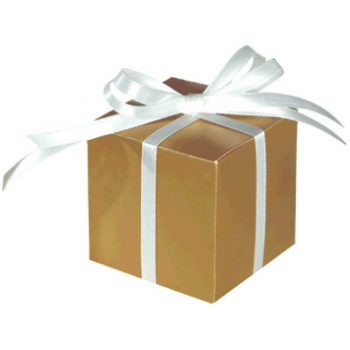 """Picture of 2""""X2"""" FAVOR BOXES - GOLD"""