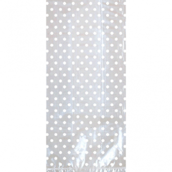 Picture of DOTS CELLO BAGS W/ BOW - WHITE