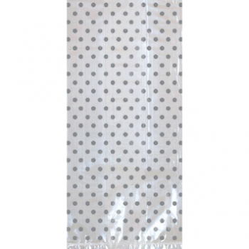 Picture of DOTS CELLO BAGS W/ BOW - SILVER