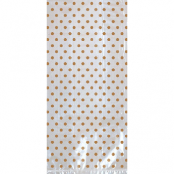 Picture of DOTS CELLO BAGS W/ BOW - GOLD