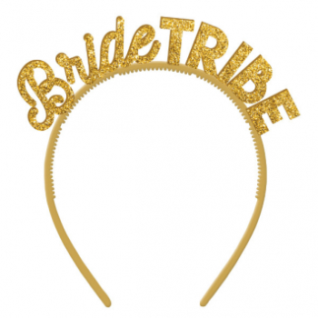 Picture of BRIDE TRIBE GLITTER GOLD HEADBAND