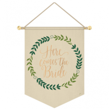 Image de HERE COMES THE BRIDE HANGING CANVAS SIGN