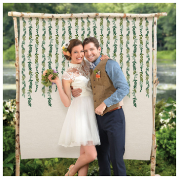 Picture of LEAF BACKDROP