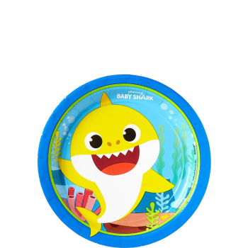 """Picture of BABY SHARK - 7"""" ROUND PLATES"""