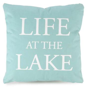 Picture of LIFE AT THE LAKE AQUA CUSHION
