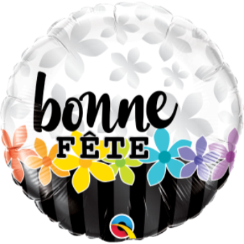 """Picture of 18"""" FOIL - BONNE FETE BANDE DE FLEURS"""