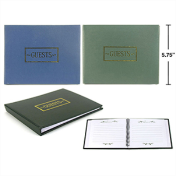 Picture of GUEST BOOK - BLACK, BLUE OR GREEN