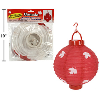 "Picture of CANADA 8"" LED PAPER LANTERN"