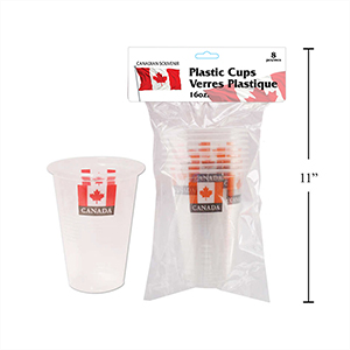 Picture of CANADA 16oz PLASTIC CUPS