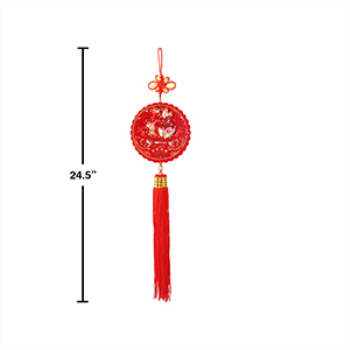"Picture of DECOR - CHINESE NEW YEAR 24"" HANGING DECOR WITH TASSEL"