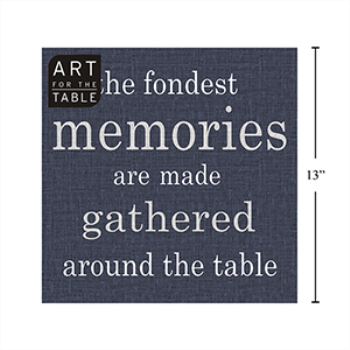 Picture of NAVY BLUE LUNCHEON NAPKINS - THE FONDEST MEMORIES ARE...