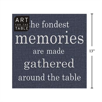 Image de NAVY BLUE LUNCHEON NAPKINS - THE FONDEST MEMORIES ARE...